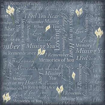 In Loving Memory 12x12 Scrapbooking Paper