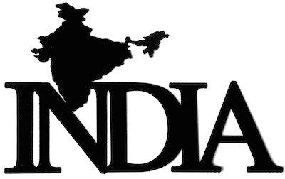 India Scrapbooking Laser Cut Title with country shape