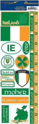 Ireland Cardstock Scrapbooking Stickers and Borders