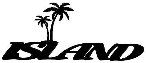 Island Scrapbooking Laser Cut Title with Palm Trees