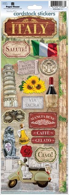 Italy Cardstock Scrapbooking Stickers