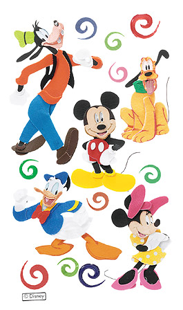Mickey and Friends Disney 3D Scrapbooking Stickers