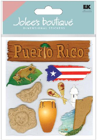 Puerto Rico Jolees 3D Scrapbooking Stickers