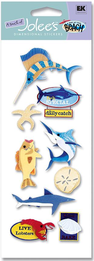 Sea Life North Jolees Dimensional Scrapbooking Stickers
