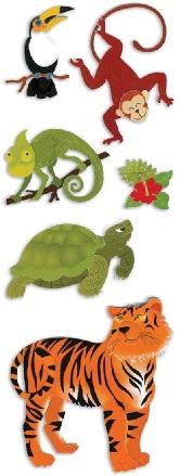 Jungle Animals Jolees 3D Scrapbooking Stickers