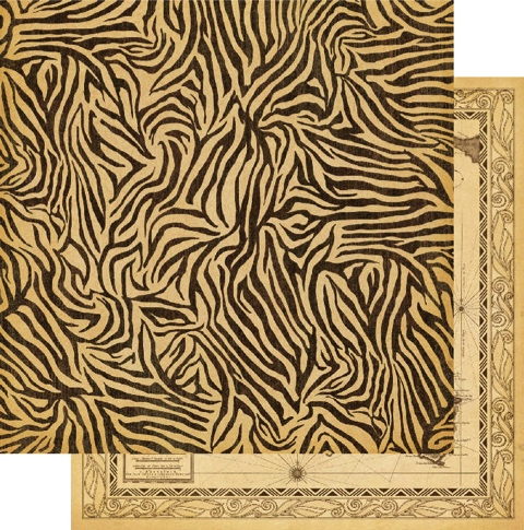 Jungle Fever Double Sided 12x12 Scrapbooking Paper