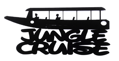 Jungle Cruise Scrapbooking Laser Cut Title with Boat