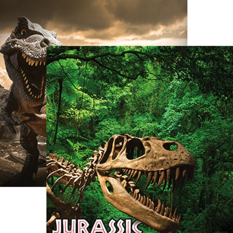 Jurassic Adventure Double Sided Scrapbooking Paper