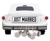 Just Married Car Die Cut Scrapbooking Sticker