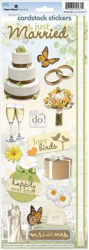 Just Married Cardstock Scrapbooking Stickers