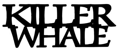 Killer Whale Scrapbooking Laser Cut Title