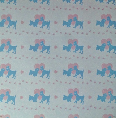 Lady and the Tramp Silhouettes 12x12 Scrapbooking Paper