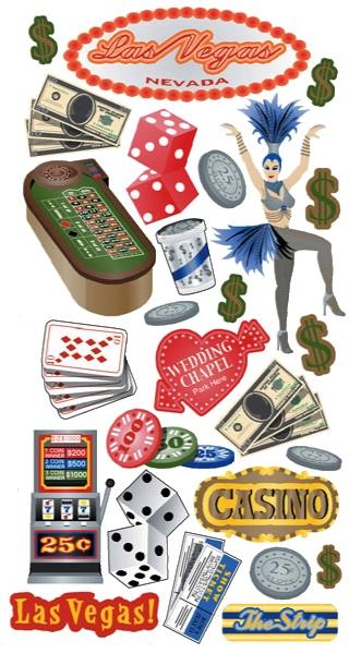Las Vegas Scrapbooking Stickers