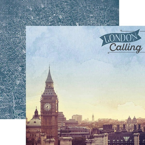 London Calling 12x12 Double Sided Scrapbooking Paper