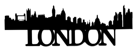 London Scrapbooking Laser Cut Title with Skyline