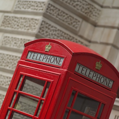 London Telephone Box 12x12 Scrapbooking Paper