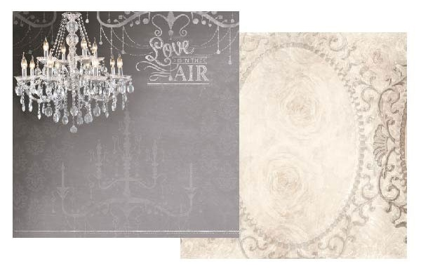 Love is in the Air Glitter 12x12 Double Sided Scrapbooking Paper