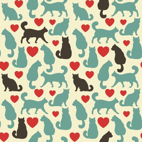 Love Cats 12x12 Scrapbooking Paper