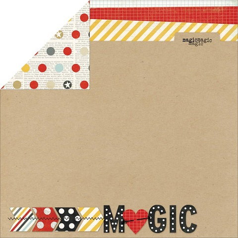 Magic Double Sided 12x12 Scrapbooking Paper