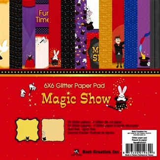 Magic Show Scrapbooking Glitter Paper Pack