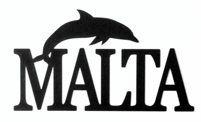 Malta Scrapbooking Laser Cut Title with Dolphin