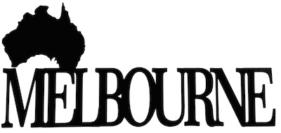 Melbourne Scrapbooking Laser Cut Title with country shape