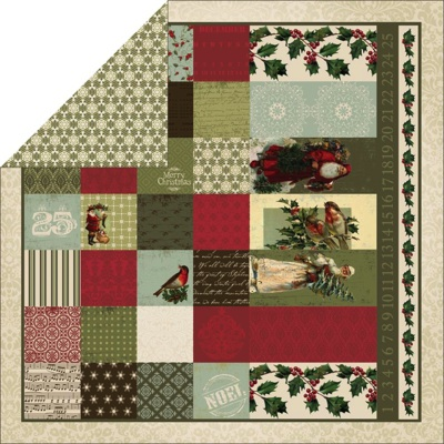 Merry Christmas 12x12 Double Sided Scrapbooking Paper