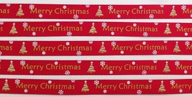 Merry Christmas Self Adhesive Scrapbooking Ribbon