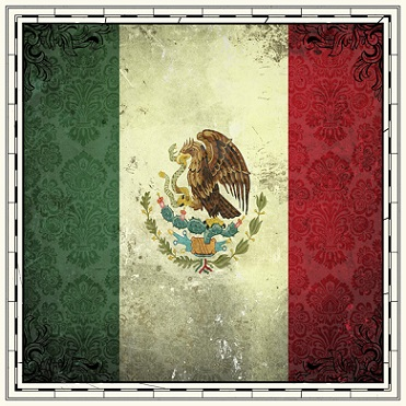 Mexico Sightseeing Flag 12x12 Scrapbooking Paper