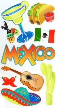 Mexico Scrapbooking Stickers
