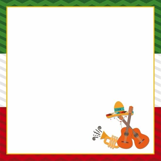 Mexico Cinco de Mayo 12x12 Scrapbooking Paper