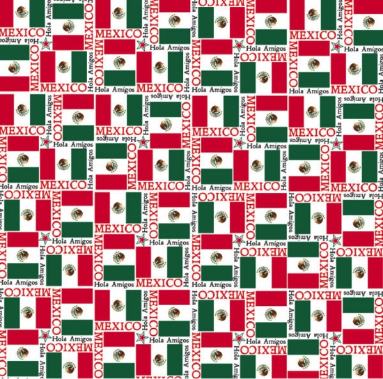 Mexico Flags 12x12 Scrapbooking Paper