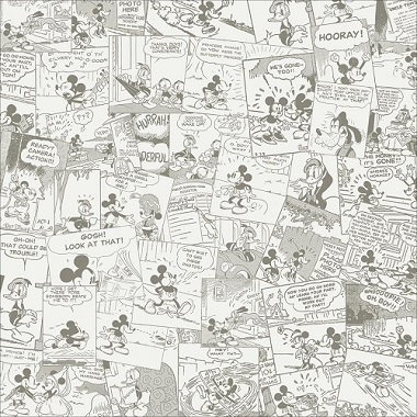 Mickey Comic 12x12 Scrapbooking Paper