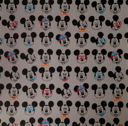 Mickey Mouse Funny Faces 12x12 Scrapbooking Paper