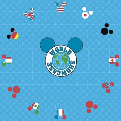 Mickey Mouse Around The World Showcase 12x12 Scrapbooking Paper