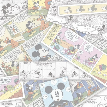 Mickey Comic Strip 12x12 Scrapbooking Paper