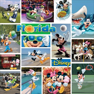 Mickey Mouse Florida 12x12 Scrapbooking Paper