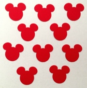 Mickey Mouse Scrapbooking Shapes