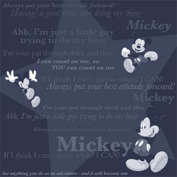 Mickey Mouse Tonal 12x12 Scrapbooking Paper