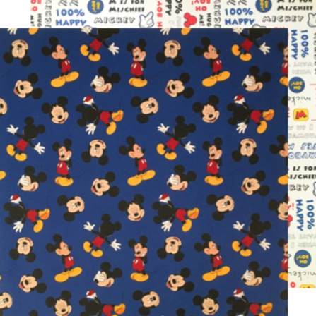 Mickey Navy Collage Double Sided 12x12 Scrapbooking Paper