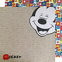 Mickey Mouse Laughing Double Sided 12x12 Scrapbooking Paper