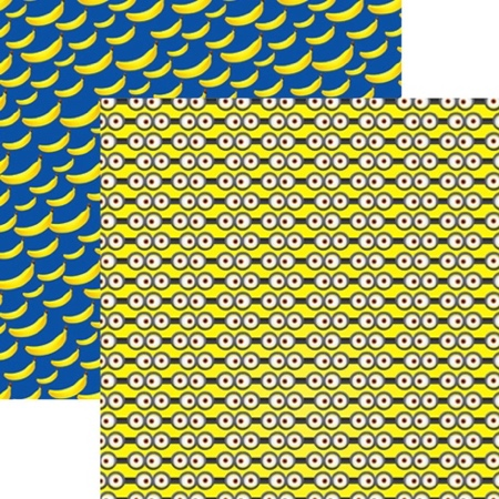 Minion Eyes Double Sided Scrapbooking Paper