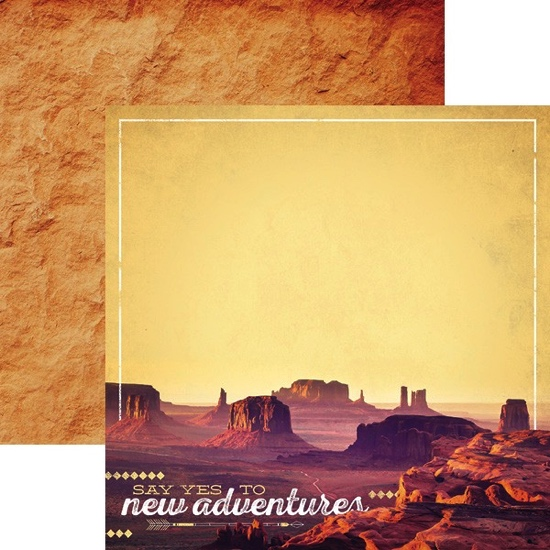 Monument Valley 12x12 Double Sided Scrapbooking Paper