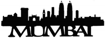 Mumbai Scrapbooking Laser Cut Title With Skyline