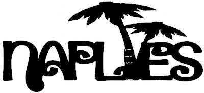 Naples Scrapbooking Laser Cut Title with Palm Trees