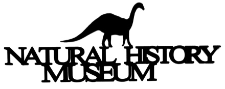 Natural History Museum Scrapbooking Laser Cut Title with Dinosaur