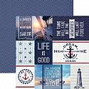 Nautical Tags 12x12 Double Sided Scrapbooking Cardstock