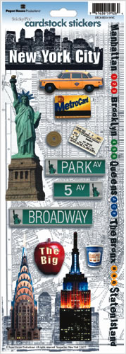 New York Cardstock Scrapbooking Stickers