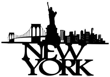 New York Scrapbooking Laser Cut Title with Skyline