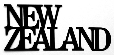 New Zealand Scrapbooking Laser Cut Title